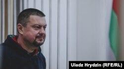 Падсудны Ігар Ласіцкі ў судовай залі