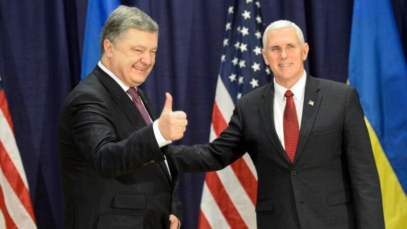 Poroshenko Says He's Satisfied He Has 'Built Bridges' With Trump Administration