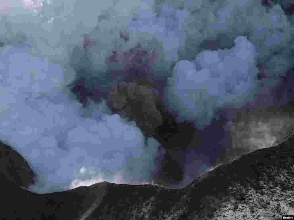 Fotografija vulkana snimljena 19.04. 2010.