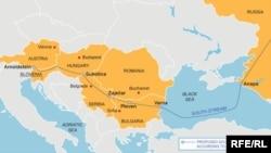 Ресейдің «Оңтүстік» құбырының маршруты.