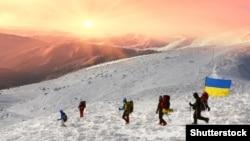 Украинские альпинисты на Говерле