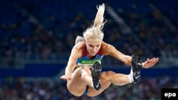 Long jumper Dariya Klishina was the only member of the Russian athletics team allowed to compete.