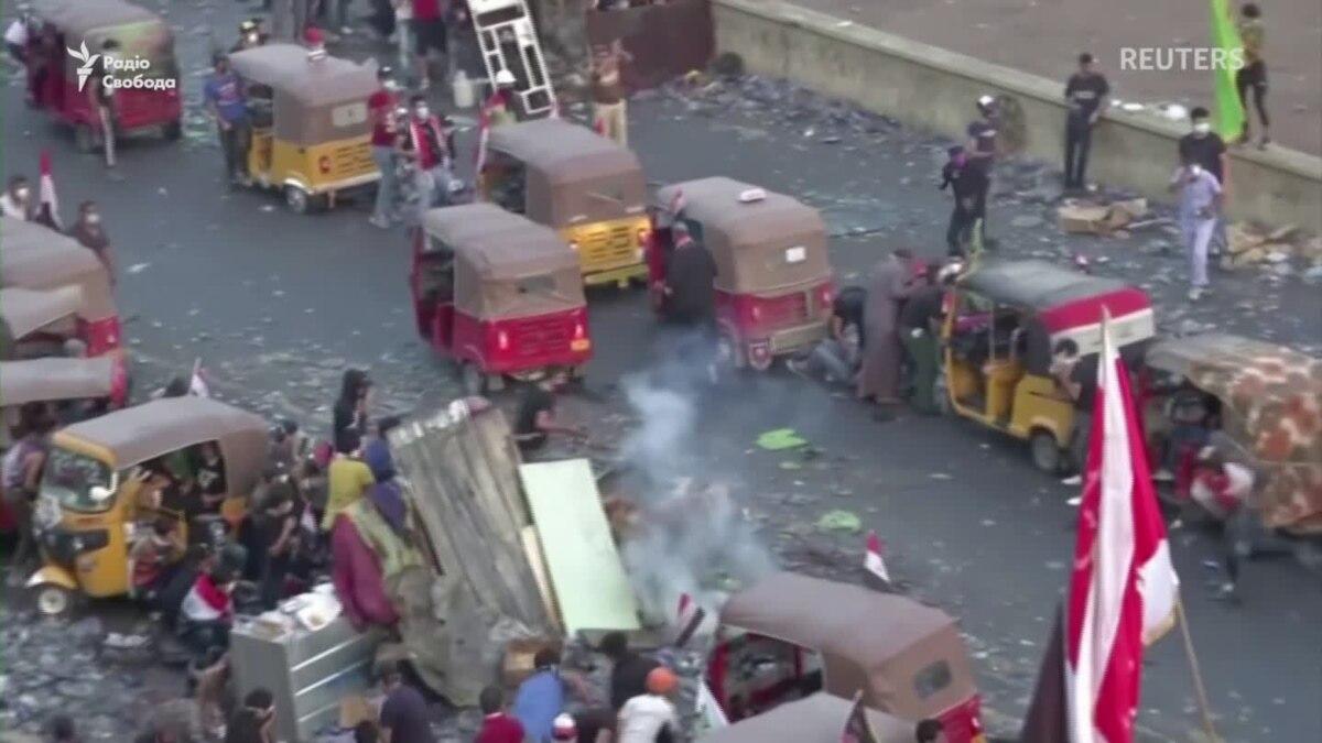 В Ираке за время протестов погибло уже 200 человек. Введен комендантский час – видео