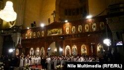 Misir xristianları Pasxa bayramı keçirir, arxiv foto
