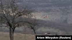 سرباز ارتش جمهوری آذربایجان در منطقه ناگورنو-قرهباغ