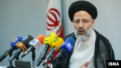 File photo:Ebrahim Raeisi Former Iranian judiciary's first deputy during a press conference on 15 Jun 2014.