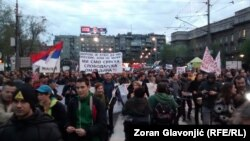 Протести в Белграді, 6 квітня 2017 року