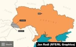Карта Закарпатья.