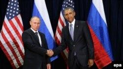 Обама менен Путиндин БУУнун саммити алкагындагы жолугушуусу. 28-сентябрь, 2015-жыл