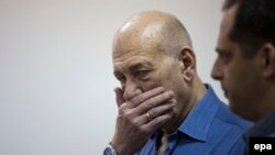 Бывший премьер-министр Эхуд Ольмерт реагирует на приговор суда в Иерусалиме
