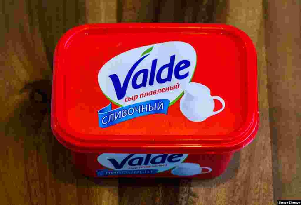 Valde ерітілген ірімшігі. Бұл өнімнің орамасы танымал Valioфин ірімшігінен айнымайды. Valio фирмасының бөлімшелері Петербург және Мәскеу маңында орналасқанымен, оған керекті қоспаларды әкелуге қазір тыйым салынған. Сондықтан, бұл күндері Ресейден Valio өнімдерін табу қиын. Дегенмен Valde-ні жей тұруға болады.