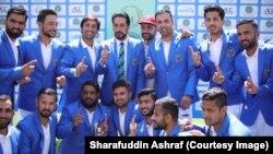 بازیکنان تیم ملی کریکت افغانستان
