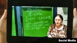 Математика сабагынан берген мугалим Айна Жакыпова.