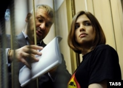 Tolokonnikova in a Moscow court in 2012