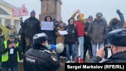 Протесты в Петрозаводске 21 апреля