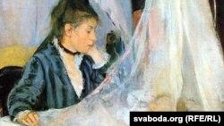 Бэрта Марызо, «Калыска» (1872). Фрагмэнт.