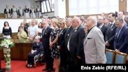 Komemoracija povodom 24. obljetnice genocida u Srebrenici, Zagreb, Juli 5, 2019.