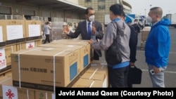 ۷۰۰ هزار دوز واکسین کمکی چین که به کابل رسیده است.