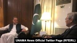 دامیچي یاماموتو د پاکستان د بهرنیو چارو له وزیر شاه محمود قریشي سره لیدلي.