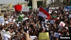 مشهد من مظاهرات 25 شباط في بغداد