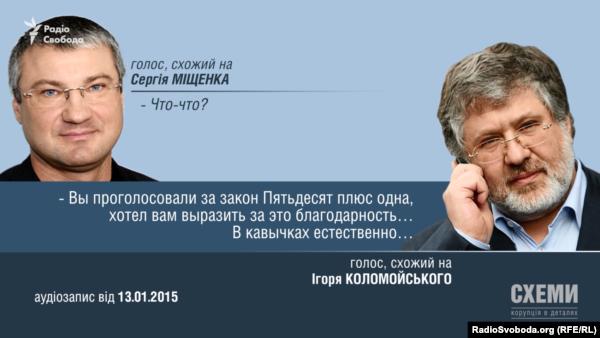 Розмова Коломойського з Міщенком