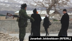 The Kyrgyz-Tajik border had been closed since an exchange of gunfire injured several Kyrgyz and Tajik border guards in January. (file photo)