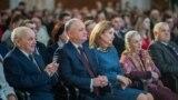"""Președintele Igor Dodon și prima doamnă Galina Dodon, la ceremonia de lansare a """"Anului Familiei"""", 28 ianuarie 2019"""