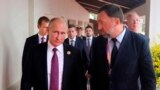 Владимир Путин и Олег Дерипаска