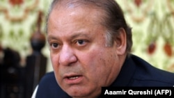 Former Pakistani Prime Minister Nawaz Sharif (file photo)