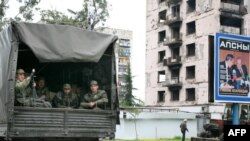 რუსეთის ჯარისკაცები აფხაზეთში