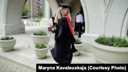 Марына Кавалеўская пасьля сканчэньня Гарварду
