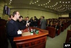 Павло Губарєв в приміщенні Донецької ОДА, 3 березня 2014 року