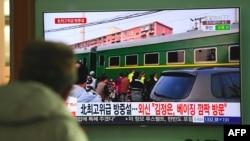 رسانههای چینی تصاویری از سفر رهبر کره شمالی به چین را پخش کردند.