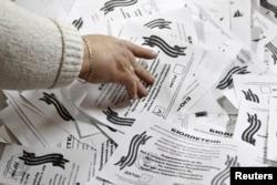 Подсчет голосов в Луганске