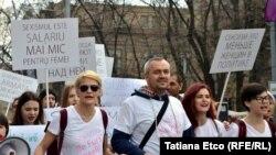 Vitalie Sprînceană printre participanții la marș