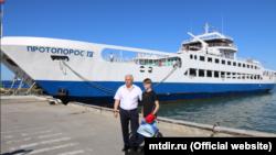 Руслан Шеміт із Краснодарського краю Росії і директор ТОВ «Морська дирекція» Сергій Якушев