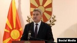 Обраќање на претседателот на Македонија, Ѓорге Иванов, на кое стави вето на Законот за употреба на јазиците.