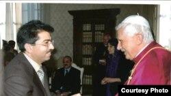 Dr.Mirza Dinayi Meeting with Pope Benedikt XVI, Nov. 2005