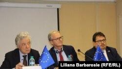 Thomas Mayr-Harting, Christian Danielsson, Peter Michalko la conferința de presă de astăzi de la Chișinău