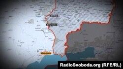 Докучаєвськ знаходиться між Донецьком і Маріуполем