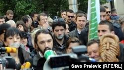 Protest novinara u Podgorici, januar 2014 (ilustrativna fotografija)