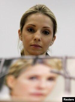 Євгенія Тимошенко на прес-конференції у Празі, 30 квітня 2012 року