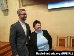 Нариман Джелял и экс-министр по делам прав человека Джемиль Стегликова после выступления в Сенате