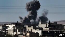 Kobanidə İŞİD-ə qarşı hava zərbələri, 7 oktyabr 2014
