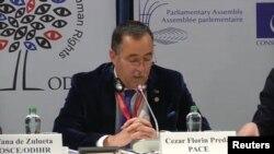 Цезарь Флорин Преда, глава делегации мониторинга ПАСЕ на референдуме в Турции.