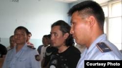 Айдос Садыков на оглашении приговора суда. Актобе, 16 июля 2010 года.