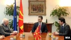 Архивска фотографија: Средба на премиерот Никола Груевски со посредникот на ОН Метју Нимиц.