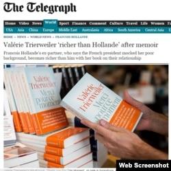 Valérie Trierweiler-in yeni kitabı, The Telegraph