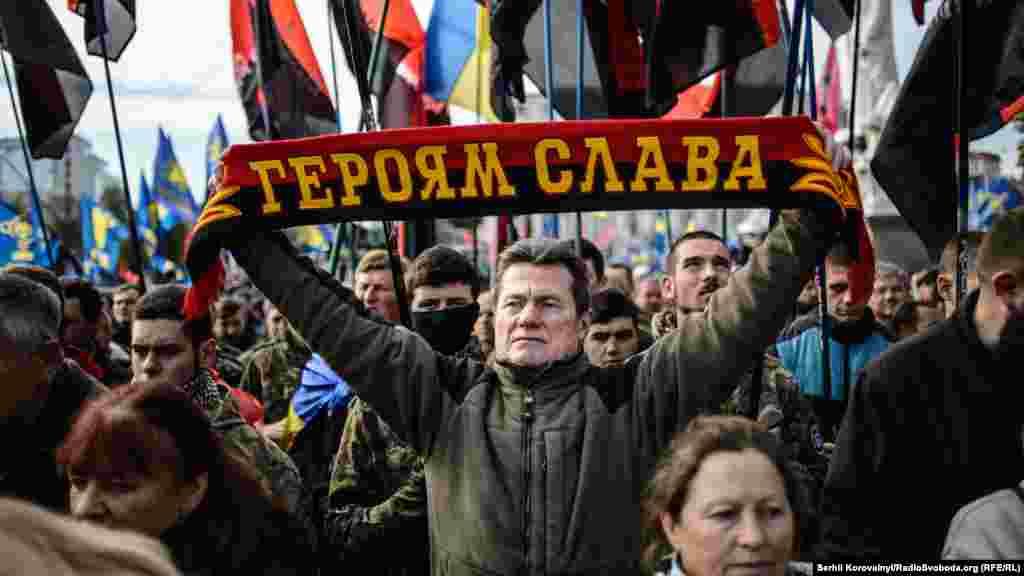 Під час мітингу згадали загиблих у боротьбі за незалежність України