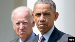 Президент США Барак Обама (справа), вице-президент США Джо Байден.